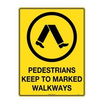 Pedestrians Keep To Marked Walkways