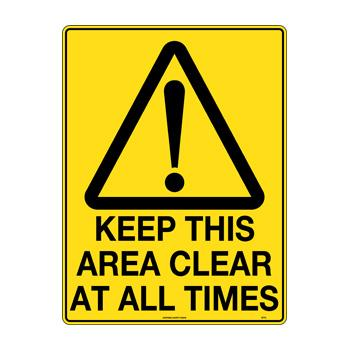 Keep This Area Clear At All Times
