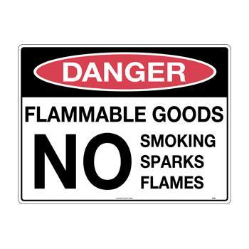 Flammable Goods No Smoking Sparks Flames