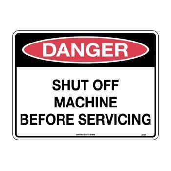 Shut Off Machine Before Servicing