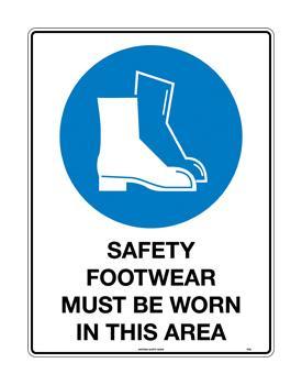 Safety Footwear Must Be Worn